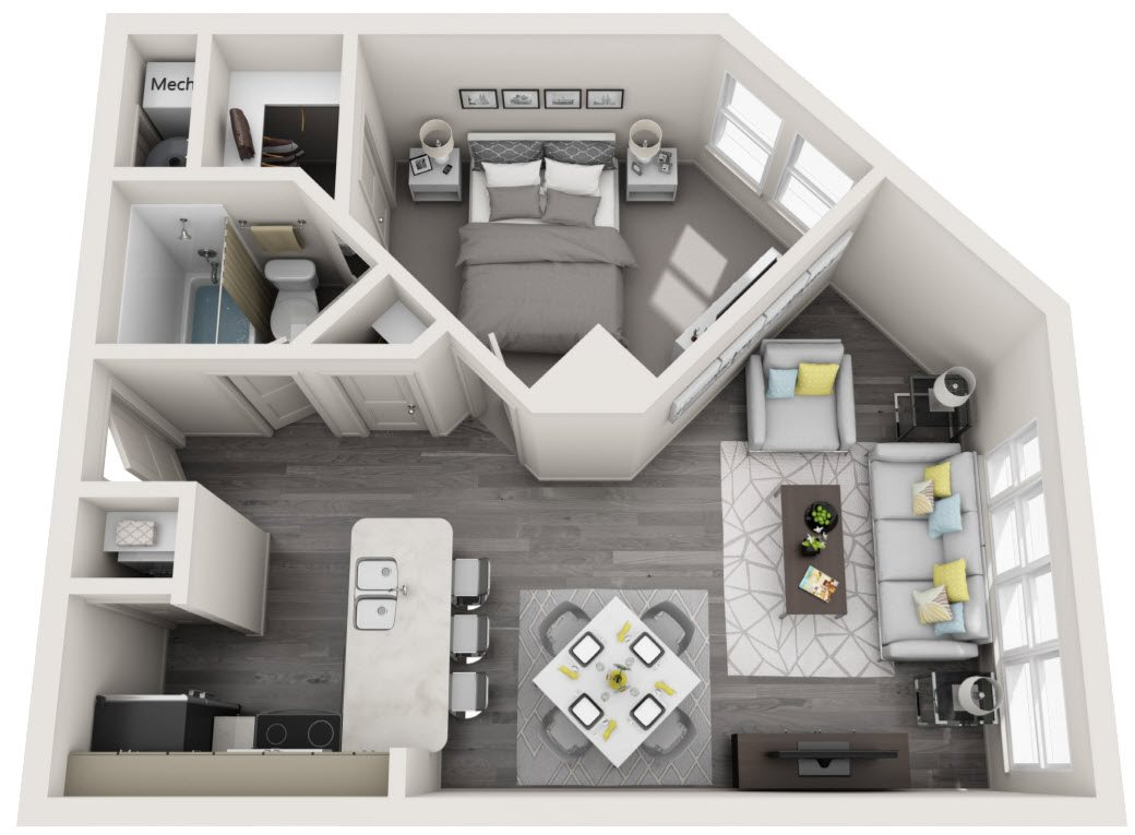 Floor Plans of The Citizen at Shirlington Village in ...