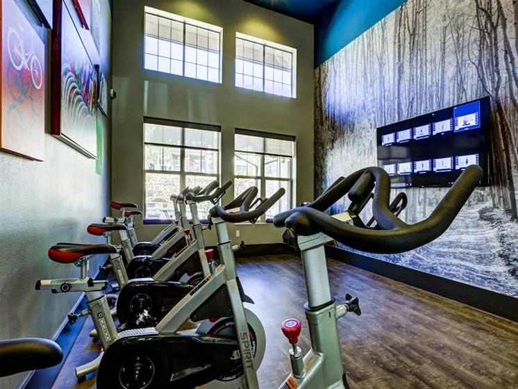 spin bikes fitness center