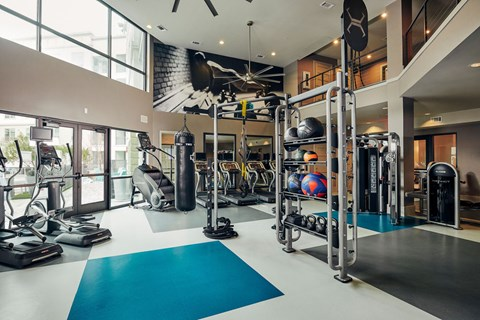 Kettle bells, TRX & Stair climber equipped fitness center