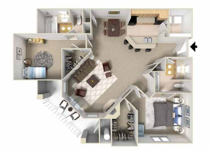 One two and three bedroom apartments in rancho cordova - 1 bedroom apartments rancho cordova ...