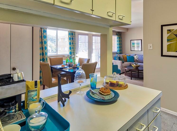 Kitchen at affordable Apartments south Richmond VA