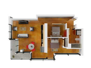 Floor plan at Arc Light, California