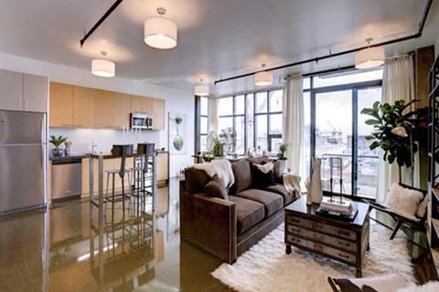 Spacious Living Room at Potrero Launch, California, 94107