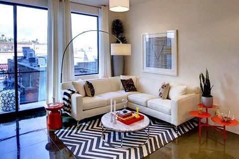 Spacious Living Room at Potrero Launch, San Francisco, CA