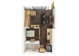 Floor plan at Potrero Launch, San Francisco