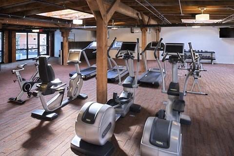 Ultra Modern Fitness Studio, Yoga Room and TRX at Potrero Launch, San Francisco