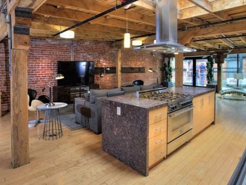 Social Lounge with Demonstration Kitchen at Potrero Launch, San Francisco,California