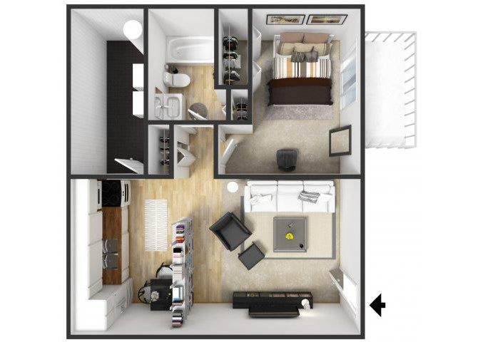 Floor Plans Of Arrowhead Apartments In Grand Rapids Mi