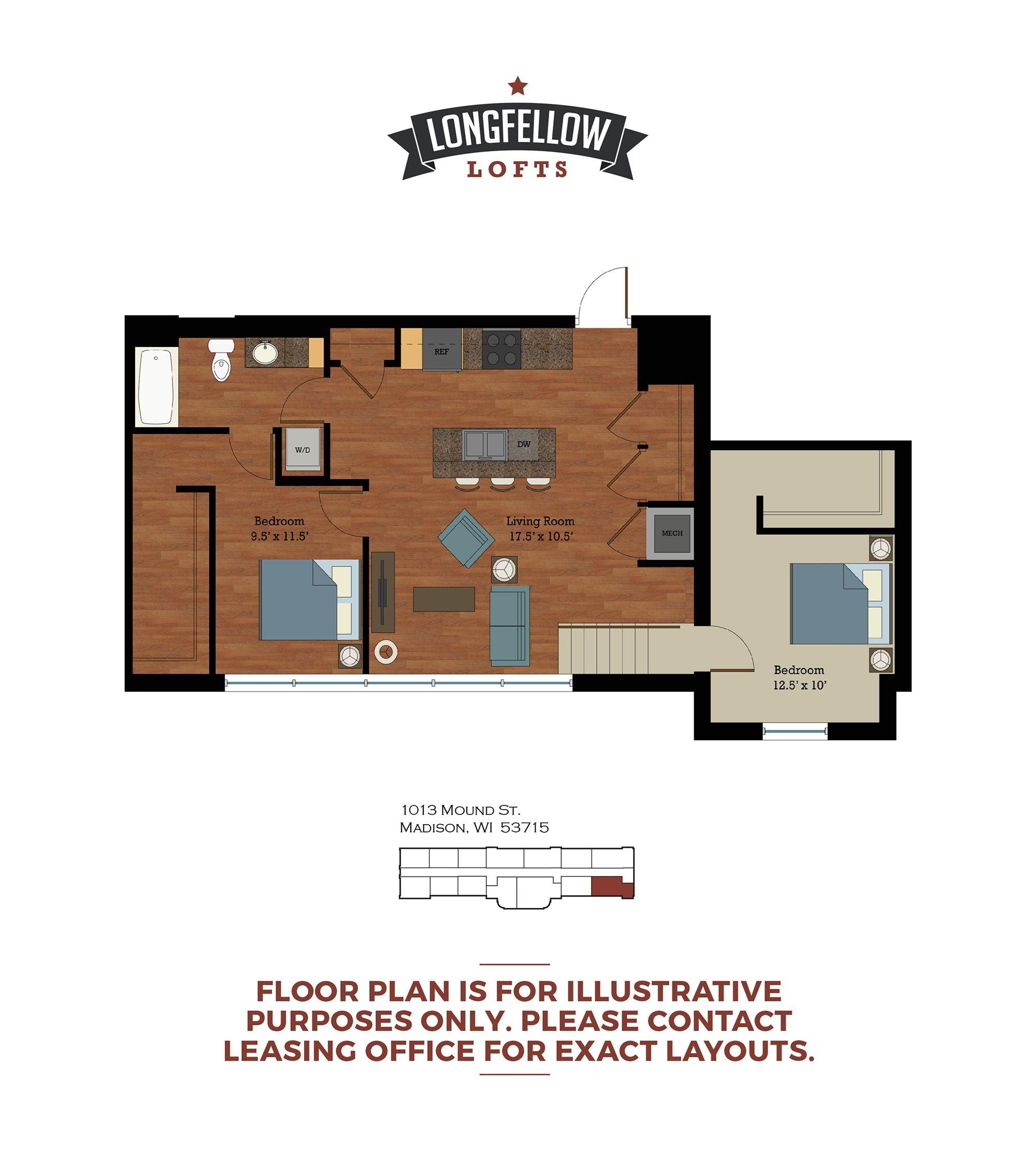 Historic - 2 Bedroom 1 Bath Floor Plan 2