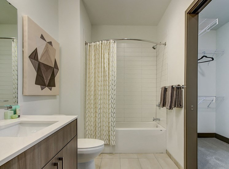 Kansas City MO Apartments for Rent - The Grand Stylish Bathroom and Walk-in Closet
