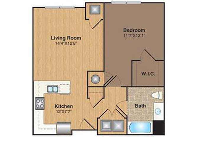 B-1 floor plan.