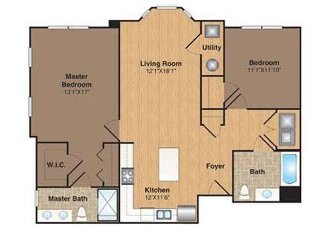B-2 floor plan.