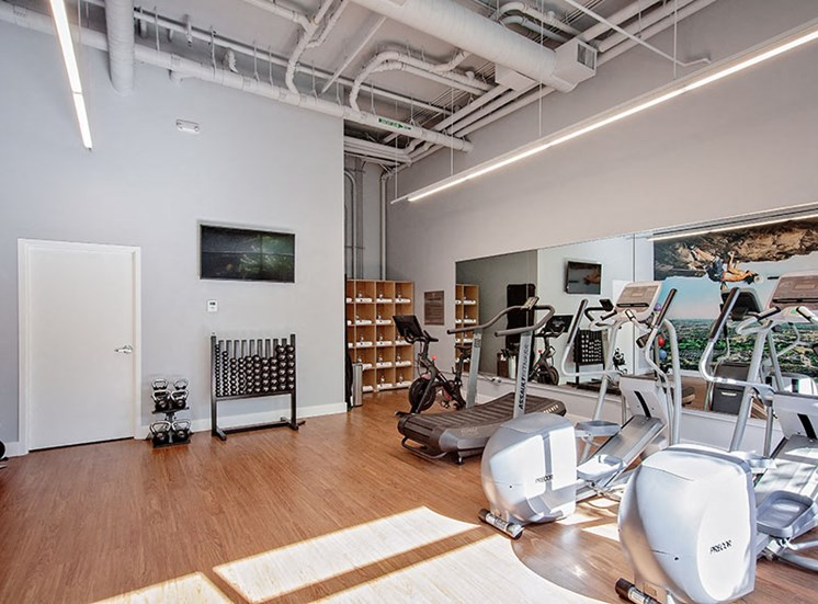 On-Site Fitness Center At Clarendon Apartments in Seattle, WA