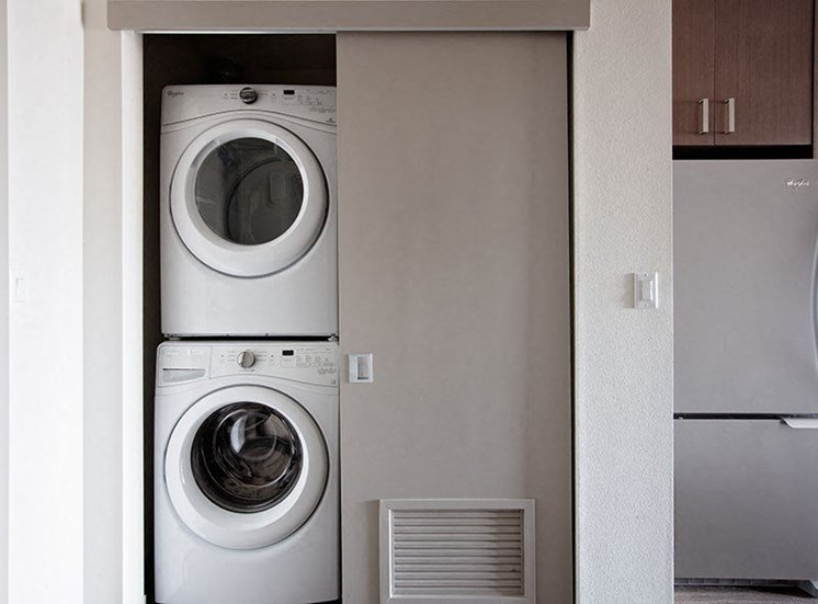In-Unit Washer & Dryer At Clarendon Apartments in Seattle, WA