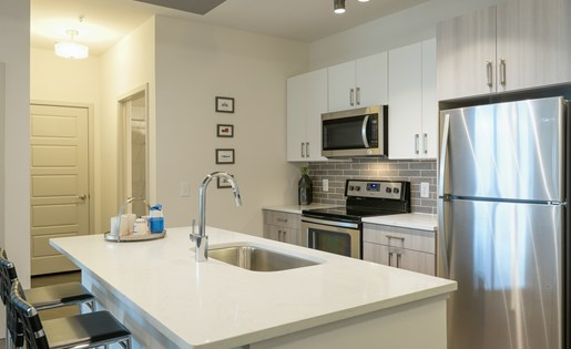 model 2 kitchen at Platform Apartments in Grant Park, Atlanta, GA