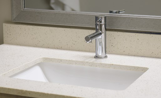 Under mount sinks at Platform Apartments in Grant Park, Atlanta, GA