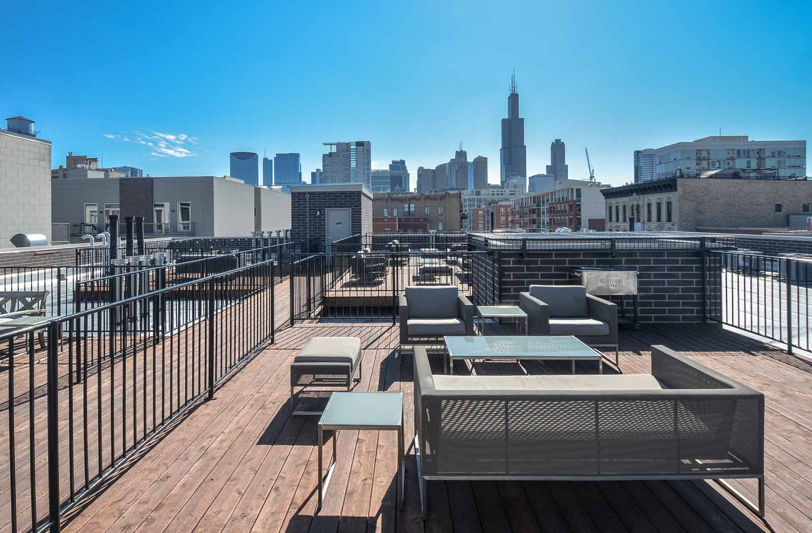rooftop terrace | The Aberdeen West Loop Apartments in Chicago, IL
