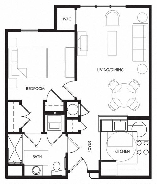 One Bedroom- 1A