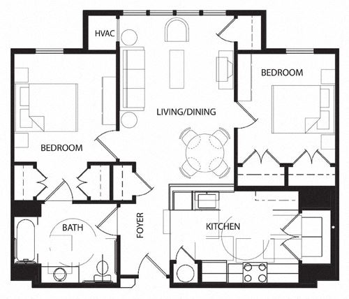 Two Bedroom- 2C