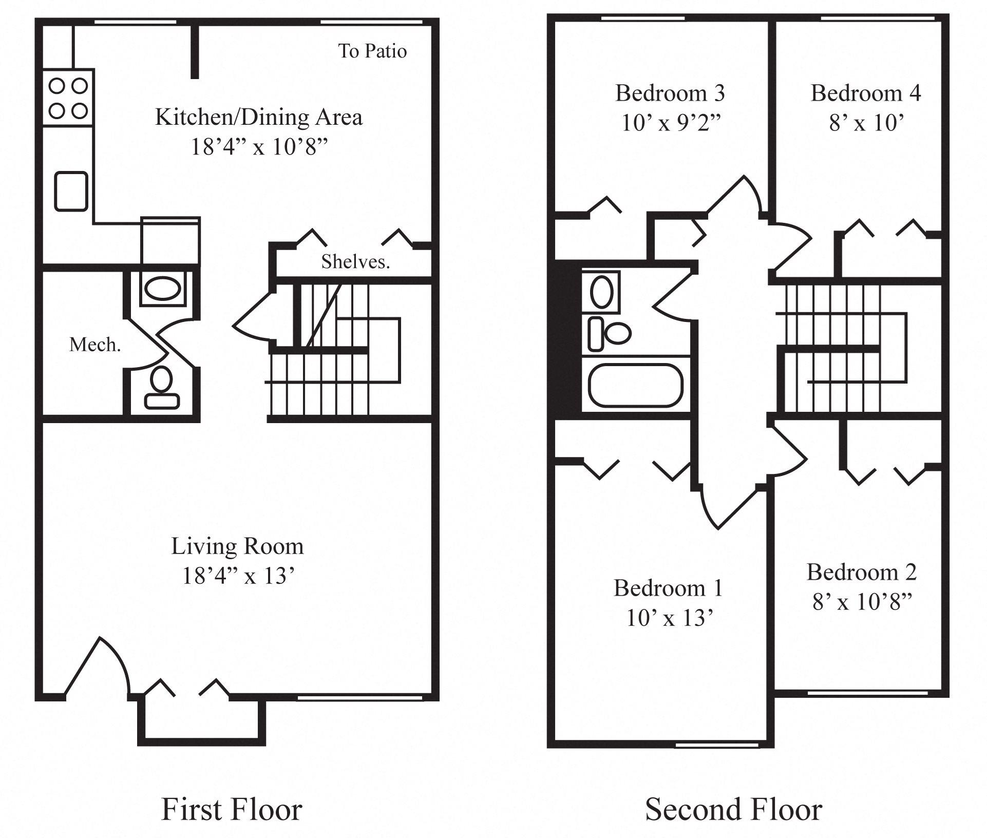 4 BR Floor Plan 4
