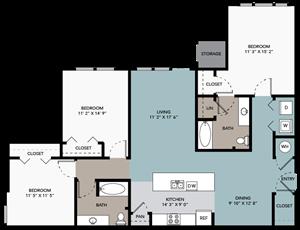 3 bedroom / 3 bathroom A