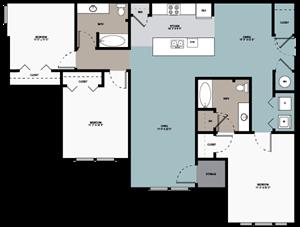 3 bedroom / 2 bathroom B