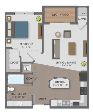 Floor plan at The Edison at Avonlea, Lakeville, MN,55044