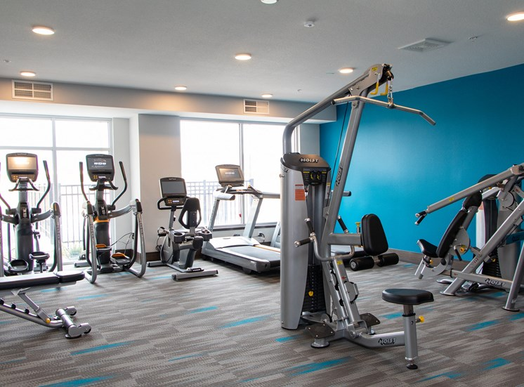 Fitness Center with updated equipment at The Edison at Avonlea, Minnesota, 55044