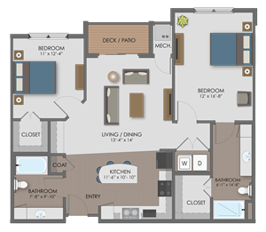 Floor plan at The Edison at Avonlea, Lakeville, MN