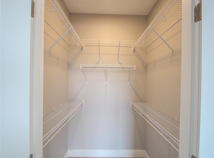 Expansive Closets w/ Open Air Shelving at The Edison at Avonlea, Minnesota, 55044