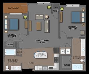 Floor plan at The Edison at Avonlea, Lakeville, Minnesota