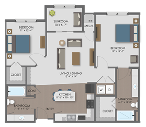 Floor plan at The Edison at Avonlea, Lakeville, 55044