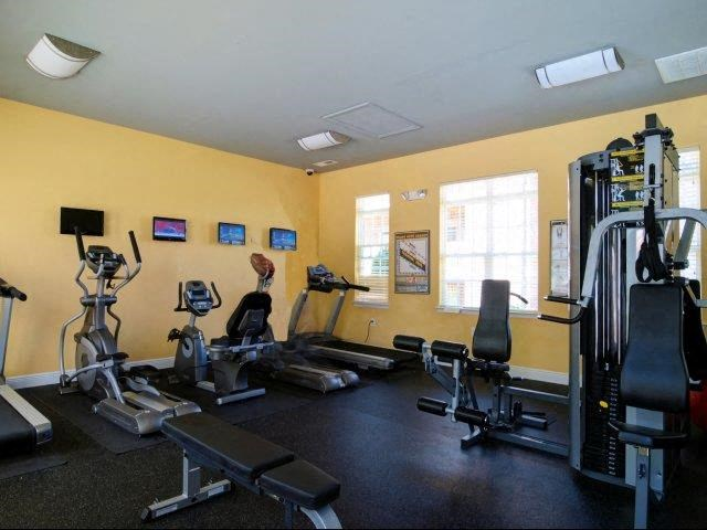Fitness Center With Updated Equipment at Hayleigh Village Apartments, North Carolina