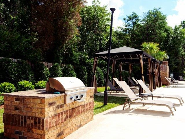 Poolside Grilling Area at Hayleigh Village Apartments, Greensboro, North Carolina