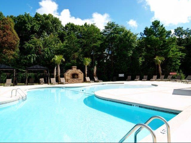Pool with Custom Steps at Hayleigh Village Apartments, Greensboro, North Carolina