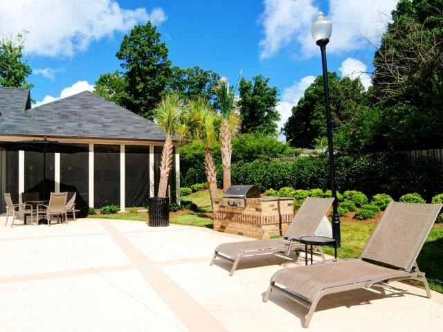 Relaxing Area By Pool at Hayleigh Village Apartments, Greensboro, NC, 27410