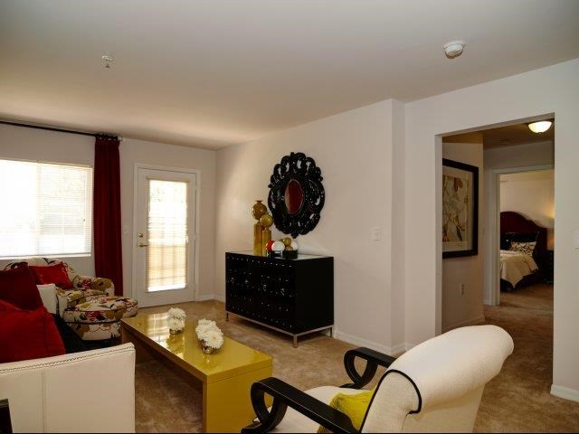 Remodeled Living Room at Hayleigh Village Apartments, Greensboro, North Carolina