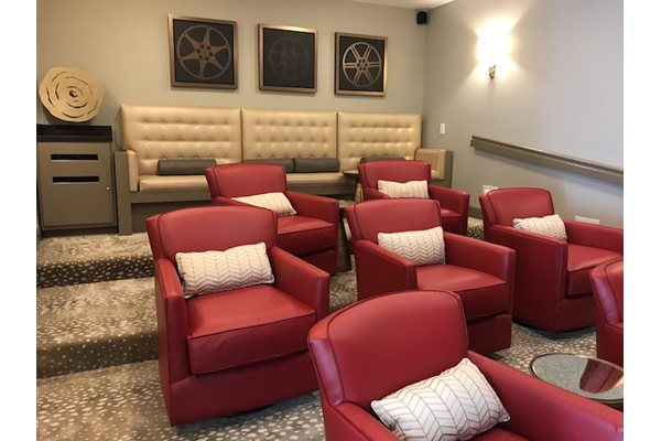 Community Movie Theater at Alaris Village Apartments, Winston-Salem