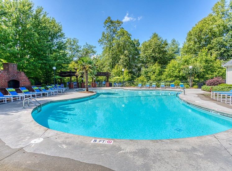 outdoor pool on sunny day
