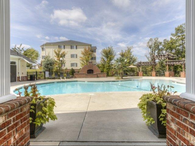 Daytime View of Resort-Style Pool at Alaris Village Apartments, North Carolina