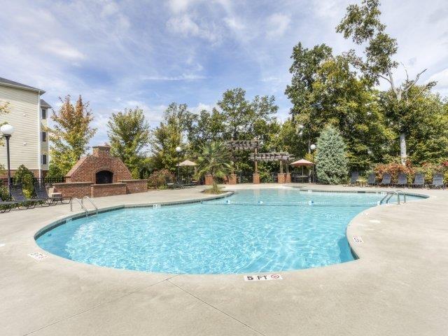 Pool Seating at Alaris Village Apartments, Winston-Salem, North Carolina