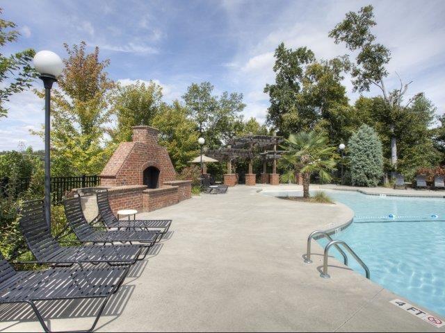 Pool With Custom Steps at Alaris Village Apartments, North Carolina