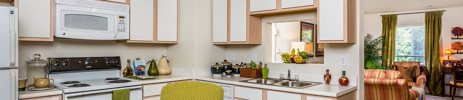 Built-In Microwaves at Featherstone Village Apartments, North Carolina