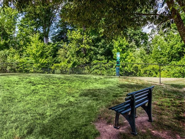 Lush Green Pet Park at Featherstone Village Apartments, Durham, 27703