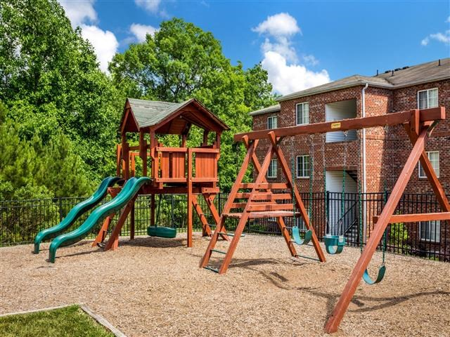 Children's Play Area at Featherstone Village Apartments, Durham, North Carolina