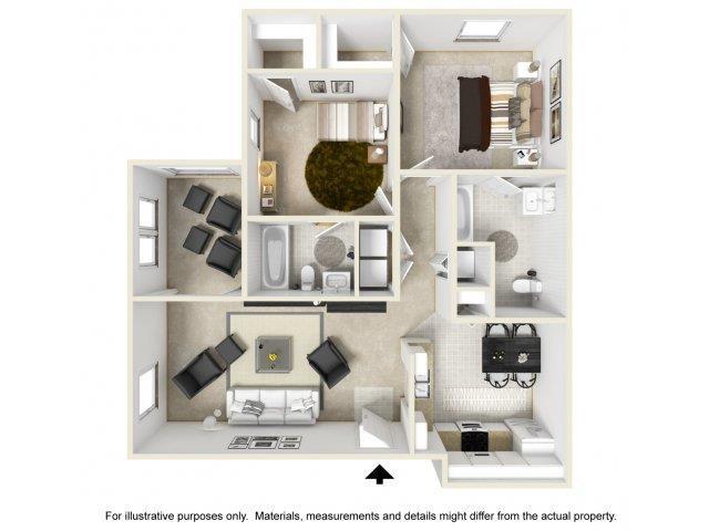 Floor Plan at Featherstone Village Apartments, Durham, 27703