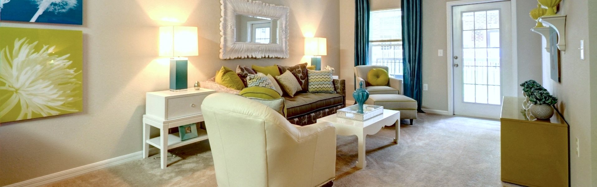 Contemporary Living Room Kilnsea Apartment Home Model