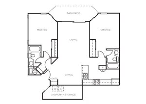 Plan A + Twin Master Suites floor plan.