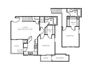 Plan B + Twin Master Townhouse floor plan.