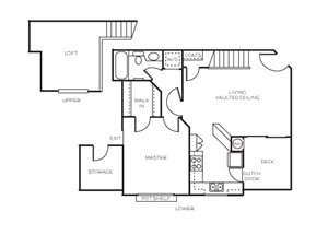 Plan D + Loft floor plan.